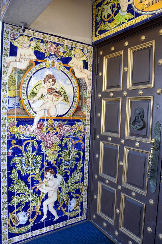 Entrance to Ybor City's Columbia Restaurant