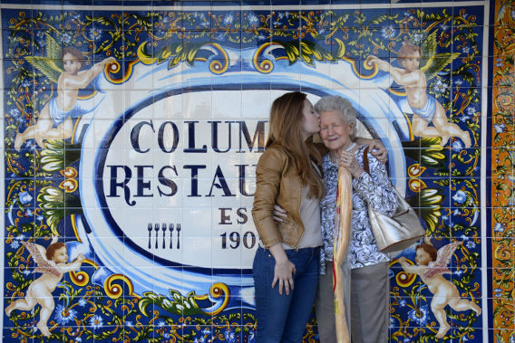 Sed Bona and Grandmother at the Columbia Restaurant