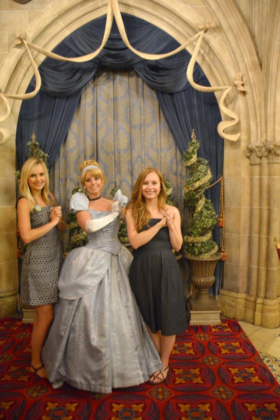 Sed Bona with Disney's Cinderella at Disneyworld