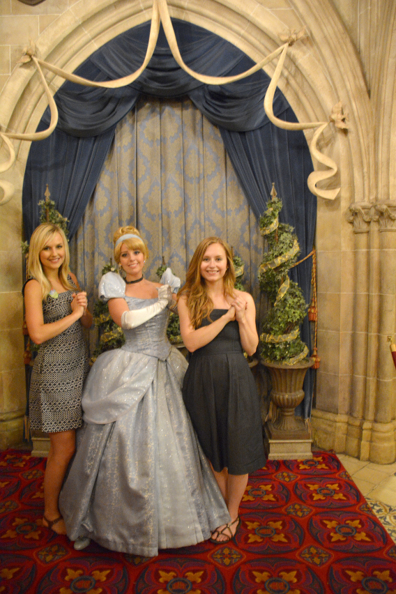 Sed Bona with Disney's Cinderella at Disneyworld