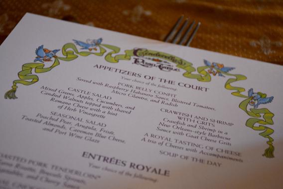 Disneyworld's Cinderella's Royal Table