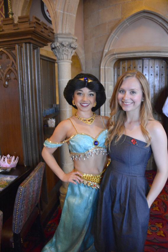 Sed Bona with Disney's Jasmine