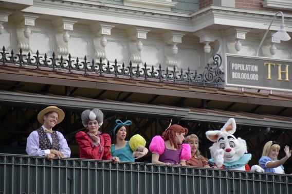 Character Greeting at Disneyworld's Magic Kingdom