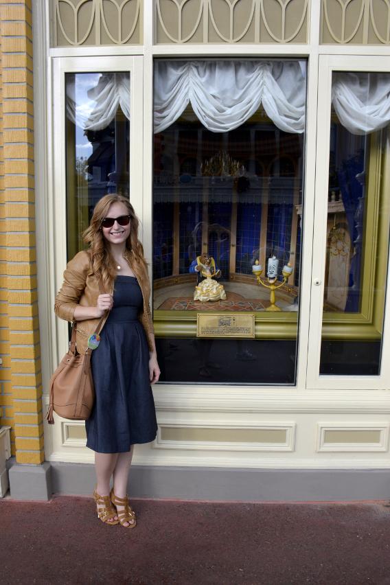 Sed Bona with Belle at Magic Kingdom