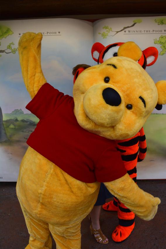 Winnie the Pooh photobomb at Disneyworld