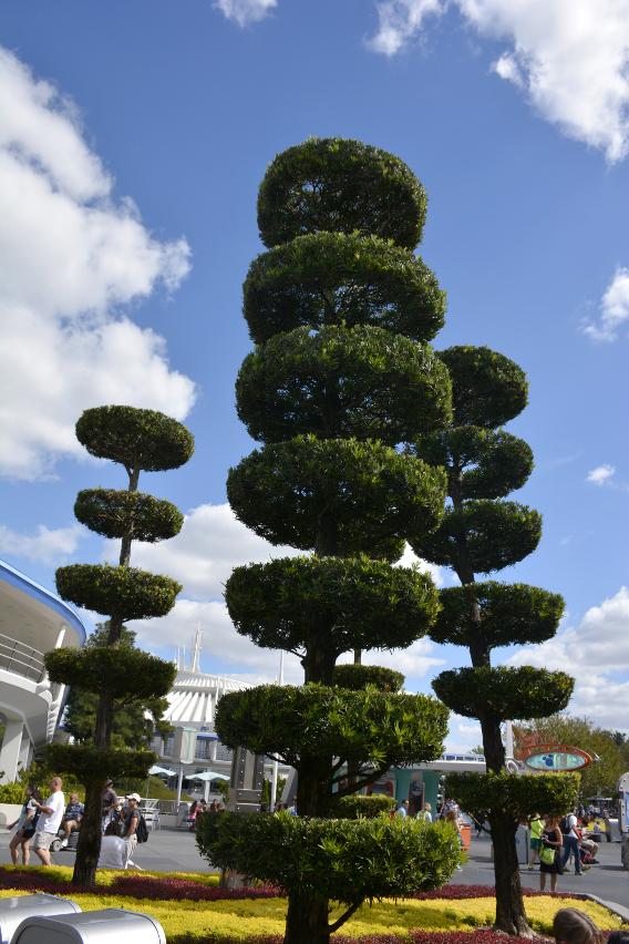 Topiaries in Tomorrowland