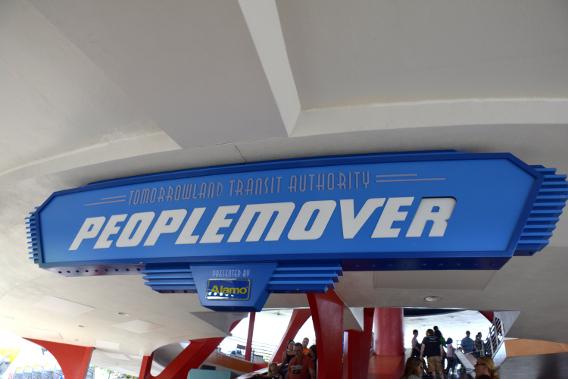 Tomorrowland's Peoplemover Entrance