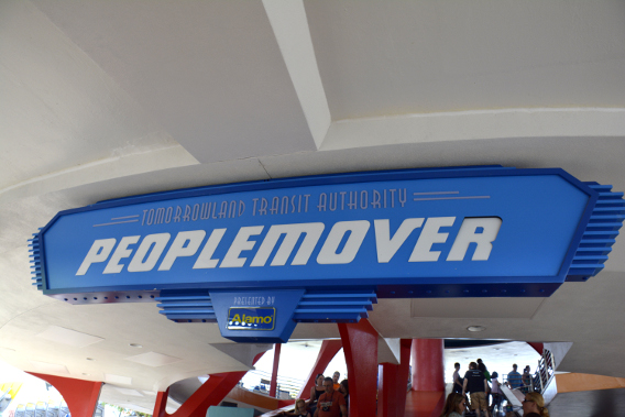 Tomorrowland's Peoplemover Entrance