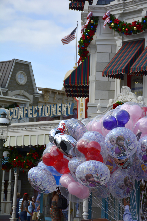 Balloons on Main Street at Disneyworld 2