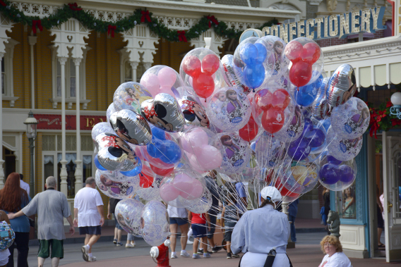 Balloons on Main Street at Disneyworld
