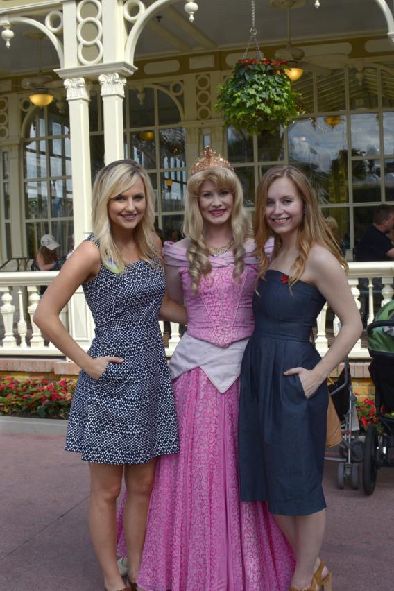 Sed Bona with Princess Aurora, Disneyworld