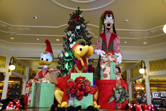 Christmas Disney Characters on Main Street