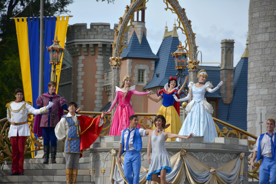 Princess Performance at Cinderella's Castle