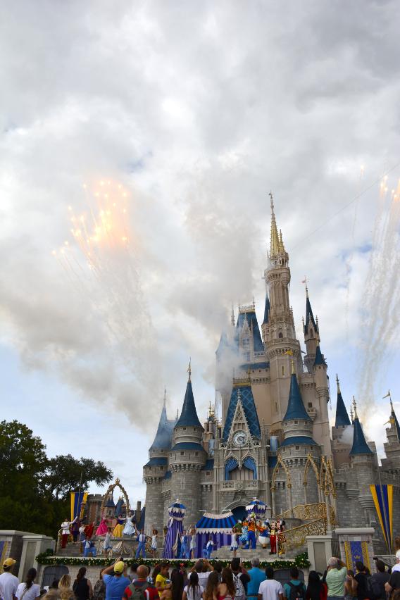 Fireworks at Disneyworld's Cinderella's Castle