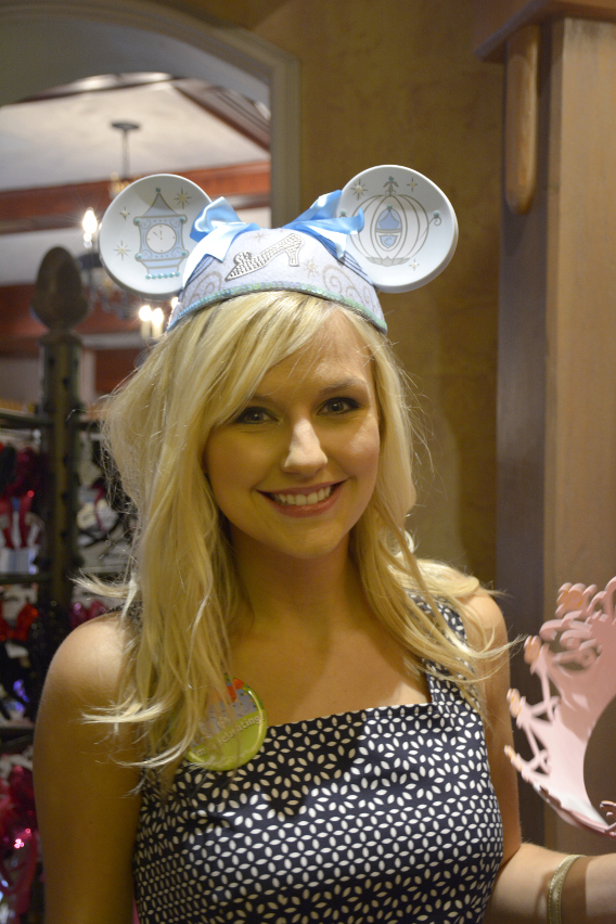 Cinderella Minnie Mouse Ears at Disneyworld