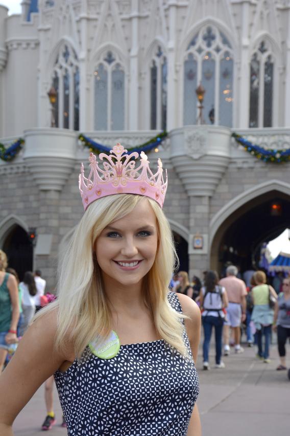 Sed Bona at Cinderella's Castle, Disneyworld