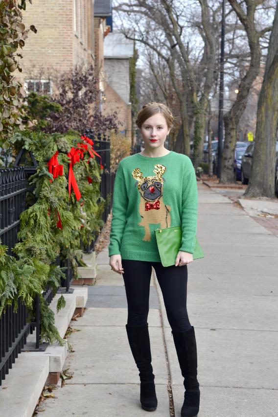 Christmas Pug Sweater