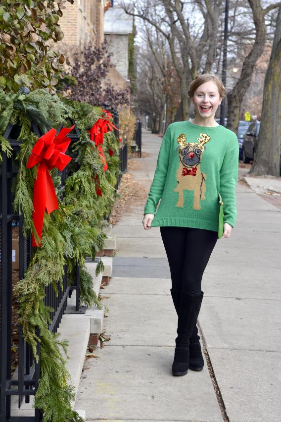 Christmas Pug Sweater 4