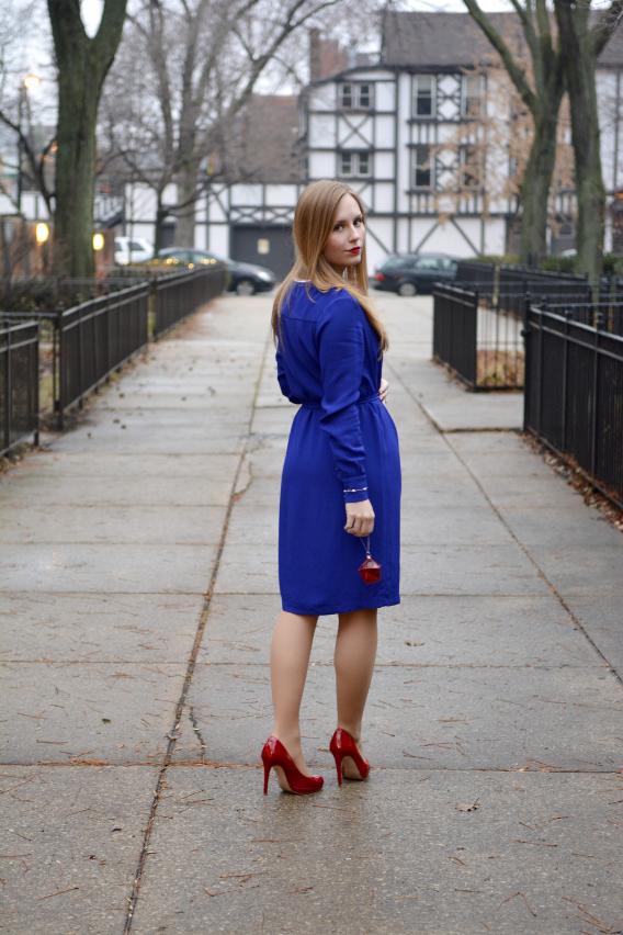 LK Bennett London Blue Brindi Dress 2