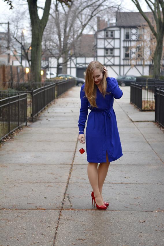 LK Bennett London Blue Brindi Dress 4