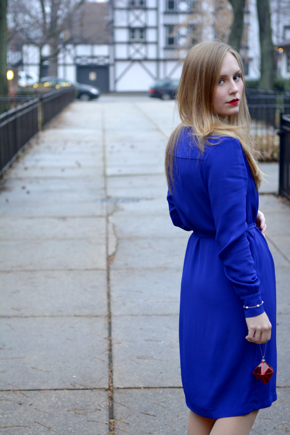 LK Bennett London Blue Brindi Dress 8