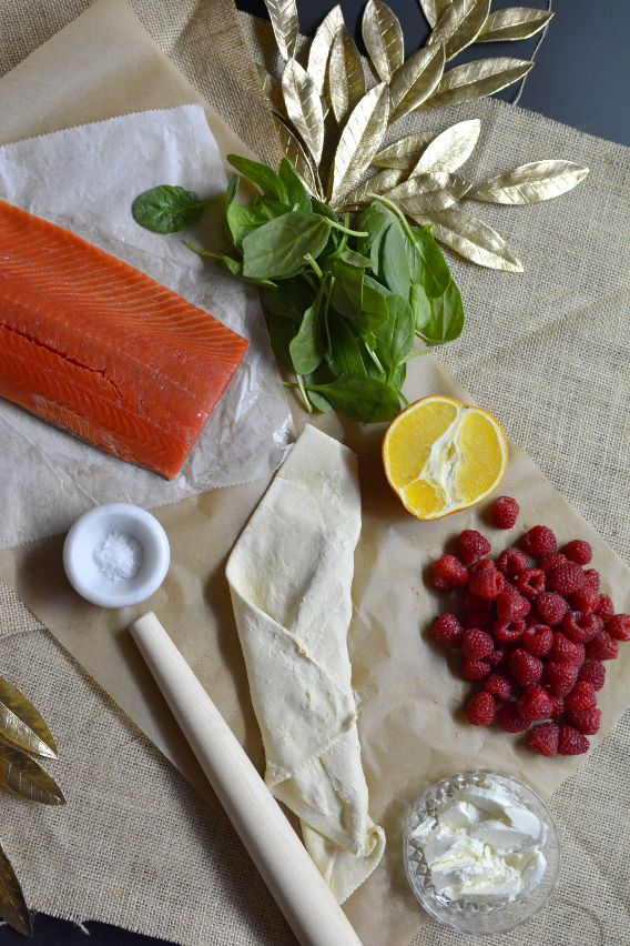 Salmon Wellington Ingredients