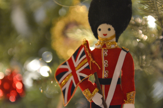 British Beefeater Christmas Ornament