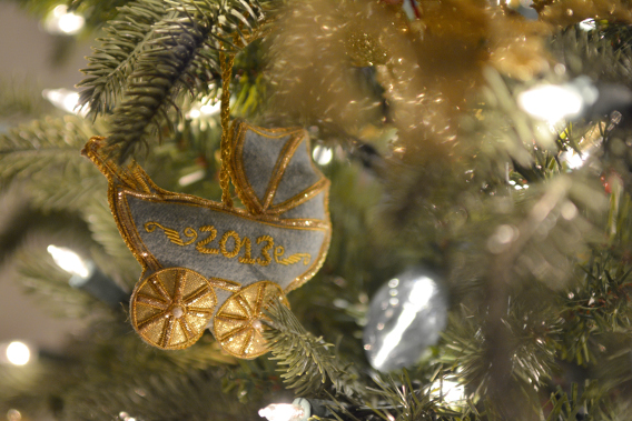 Prince George Birth 2013 Cradle Ornament
