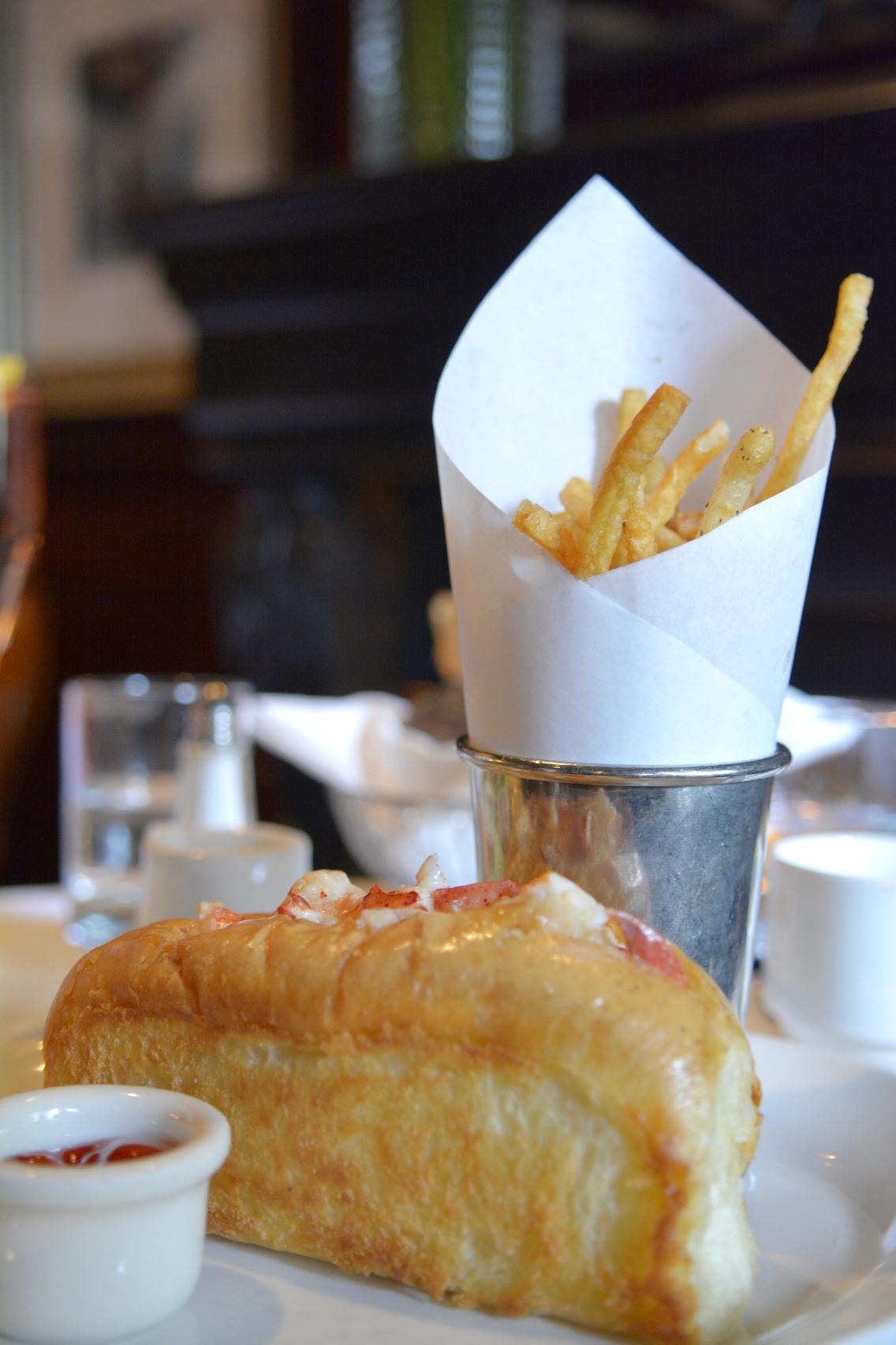 Ralph Lauren RL Restaurant Chicago Lobster Roll with Fries