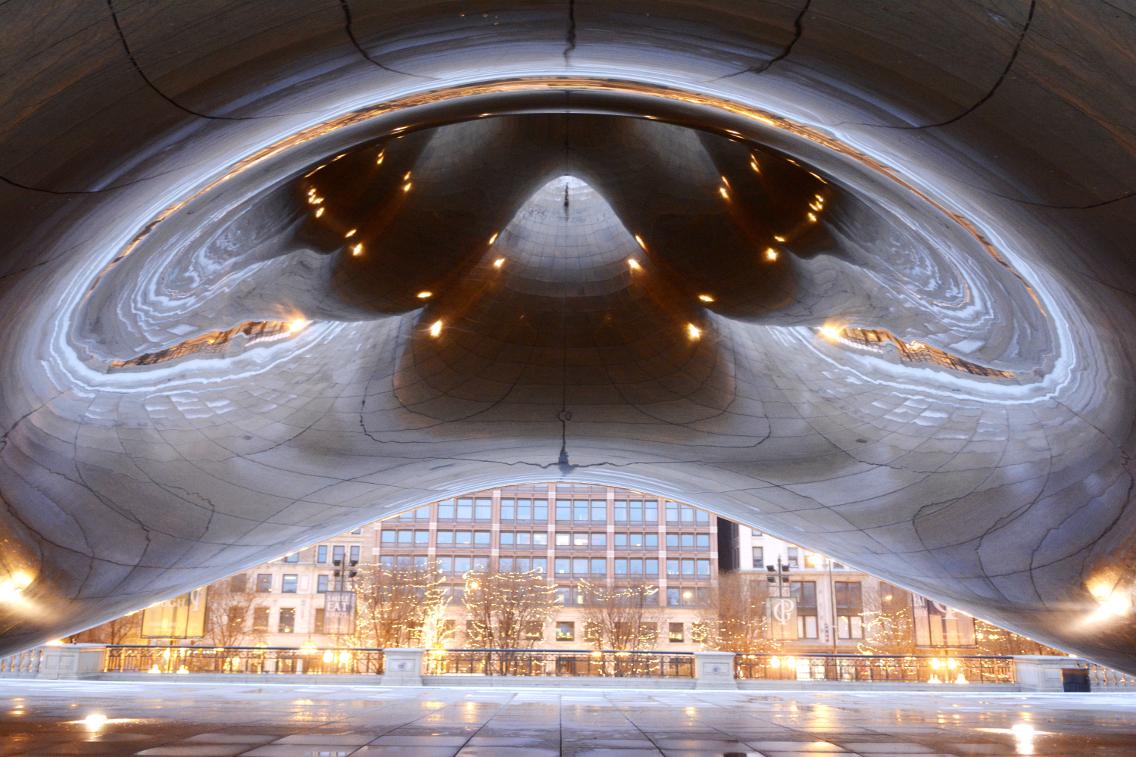 Chicago Millennium Park Cloud Gate The Bean 11