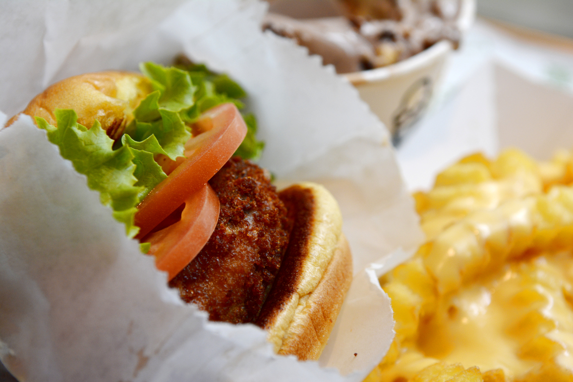 Shake Shack 'Shroom Vegetarian Burger 3
