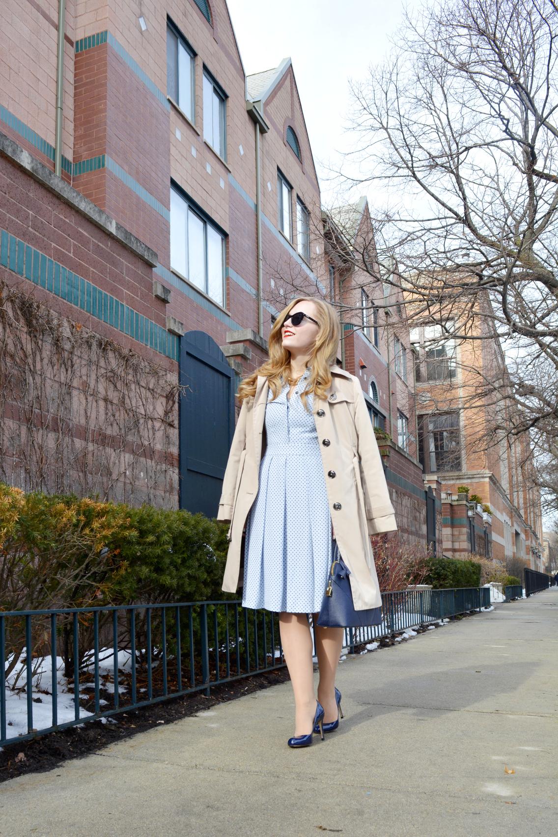 \Hobbs Blue Sarah Dress 17