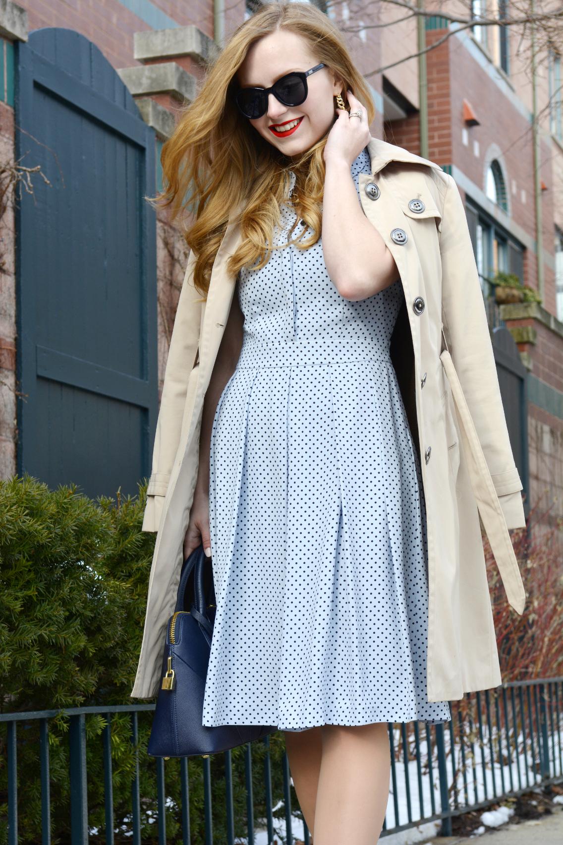 Hobbs Blue Sarah Dress 6