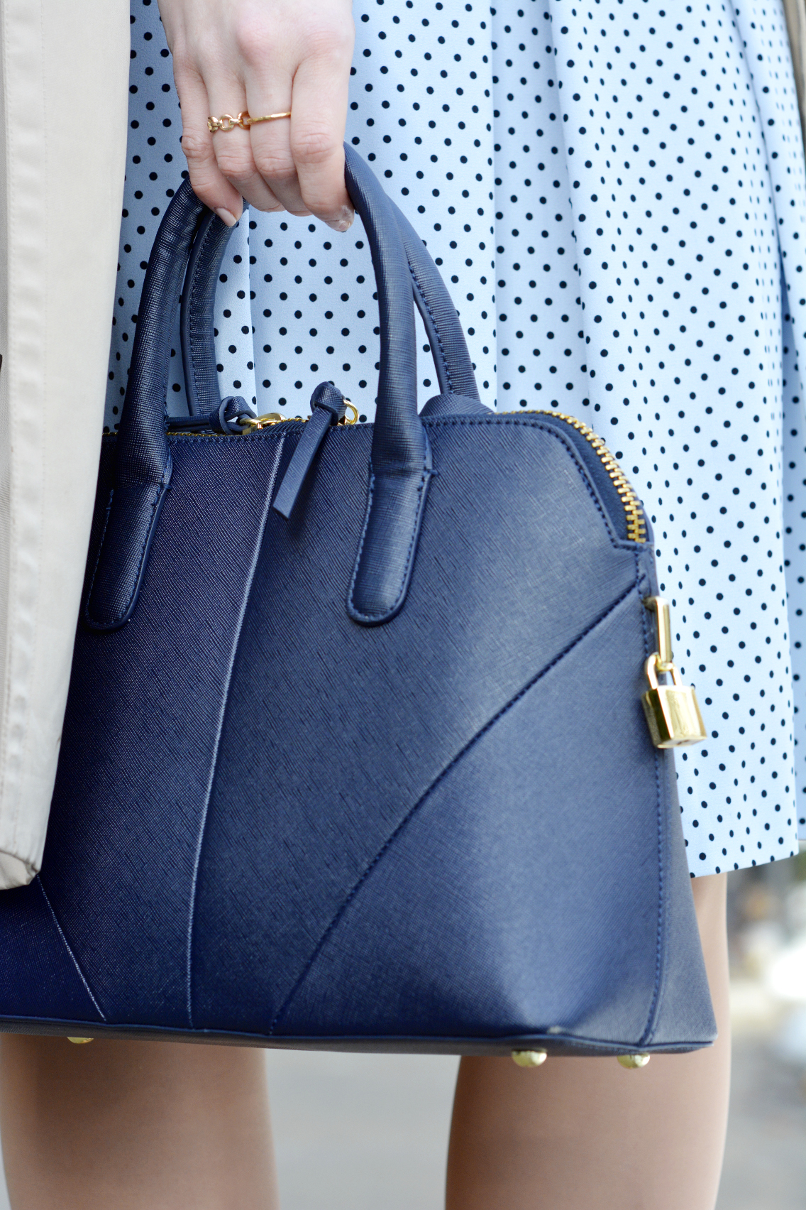 Zara Navy City Bag Purse