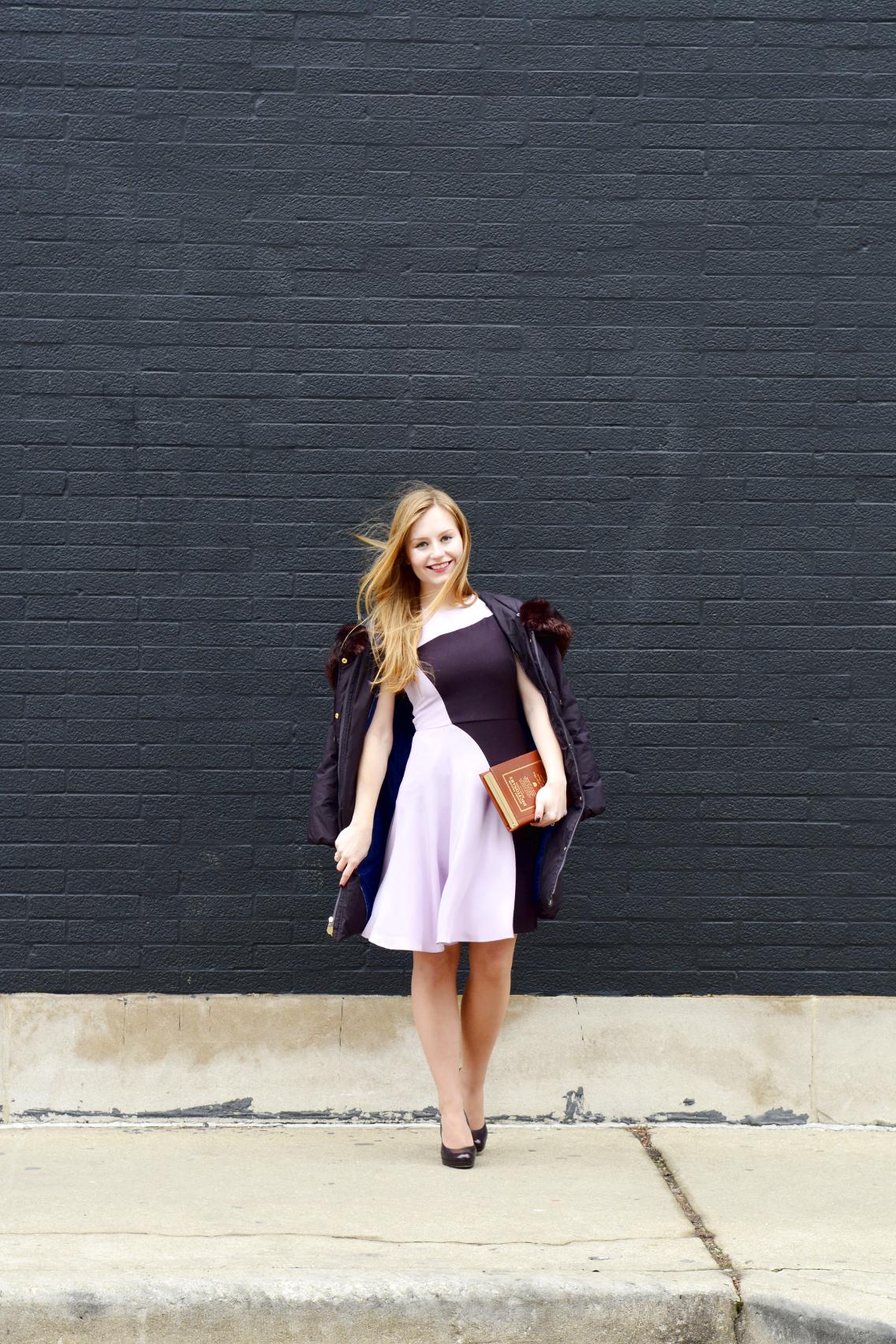 3.1 Phillip Lim Colorblock Dress Kate Spade Dictionary Clutch 4