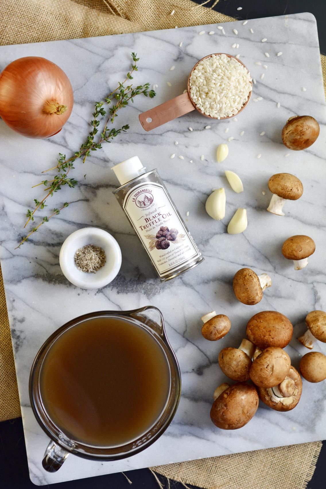 Black Truffle Mushroom Risotto Recipe