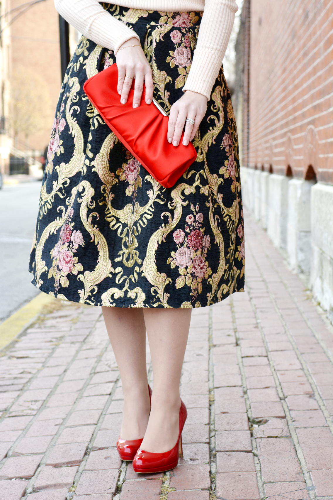 Rococo Rose Red Valentine's Day Outfit 13