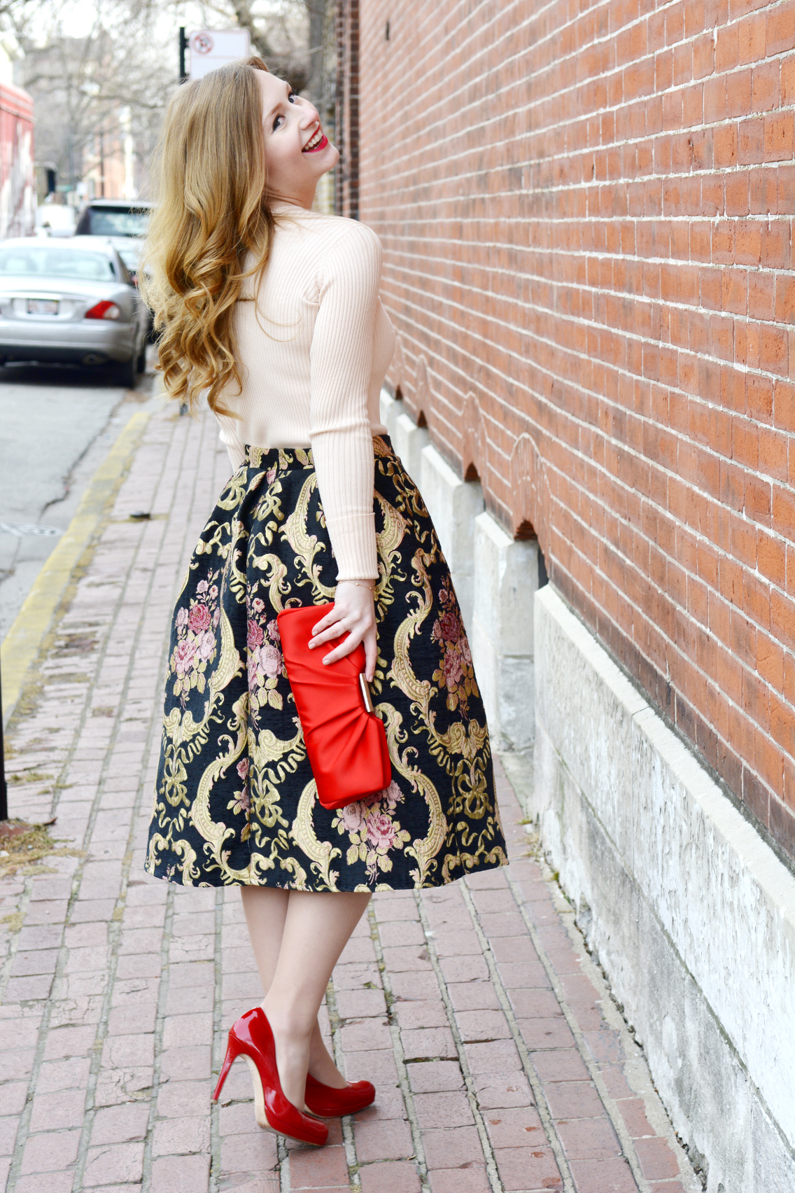 Rococo Rose Red Valentine's Day Outfit 15