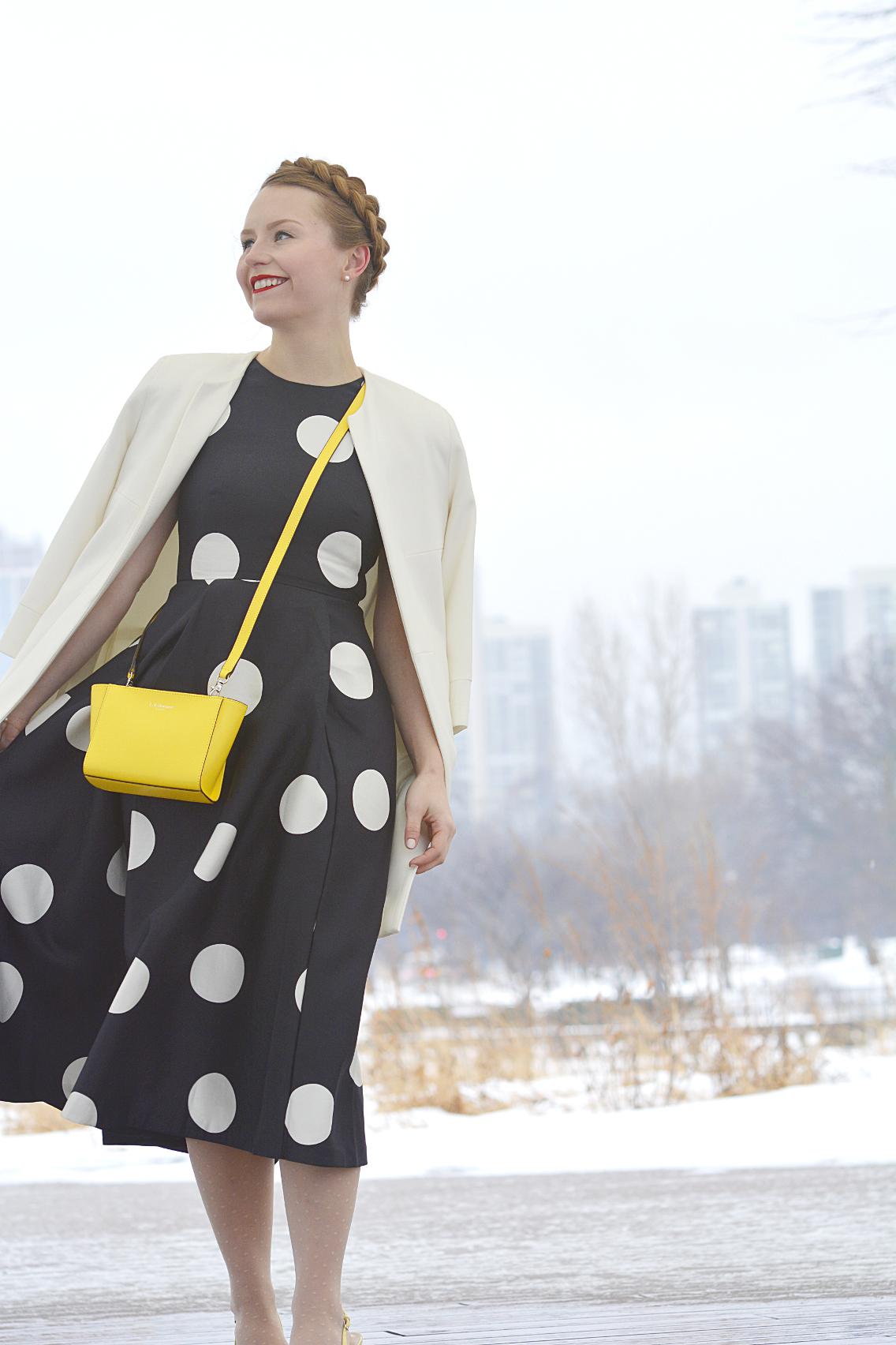 LK Bennett Polka Dot Midi Dress Spring 2015 57