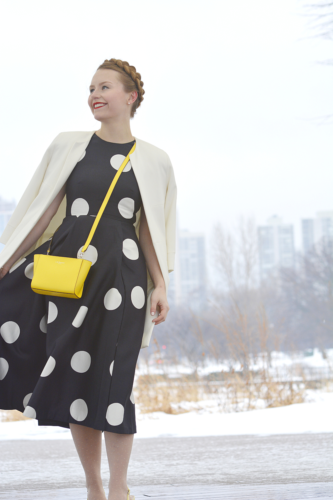 LK Bennett Polka Dot Midi Dress Spring 2015 57
