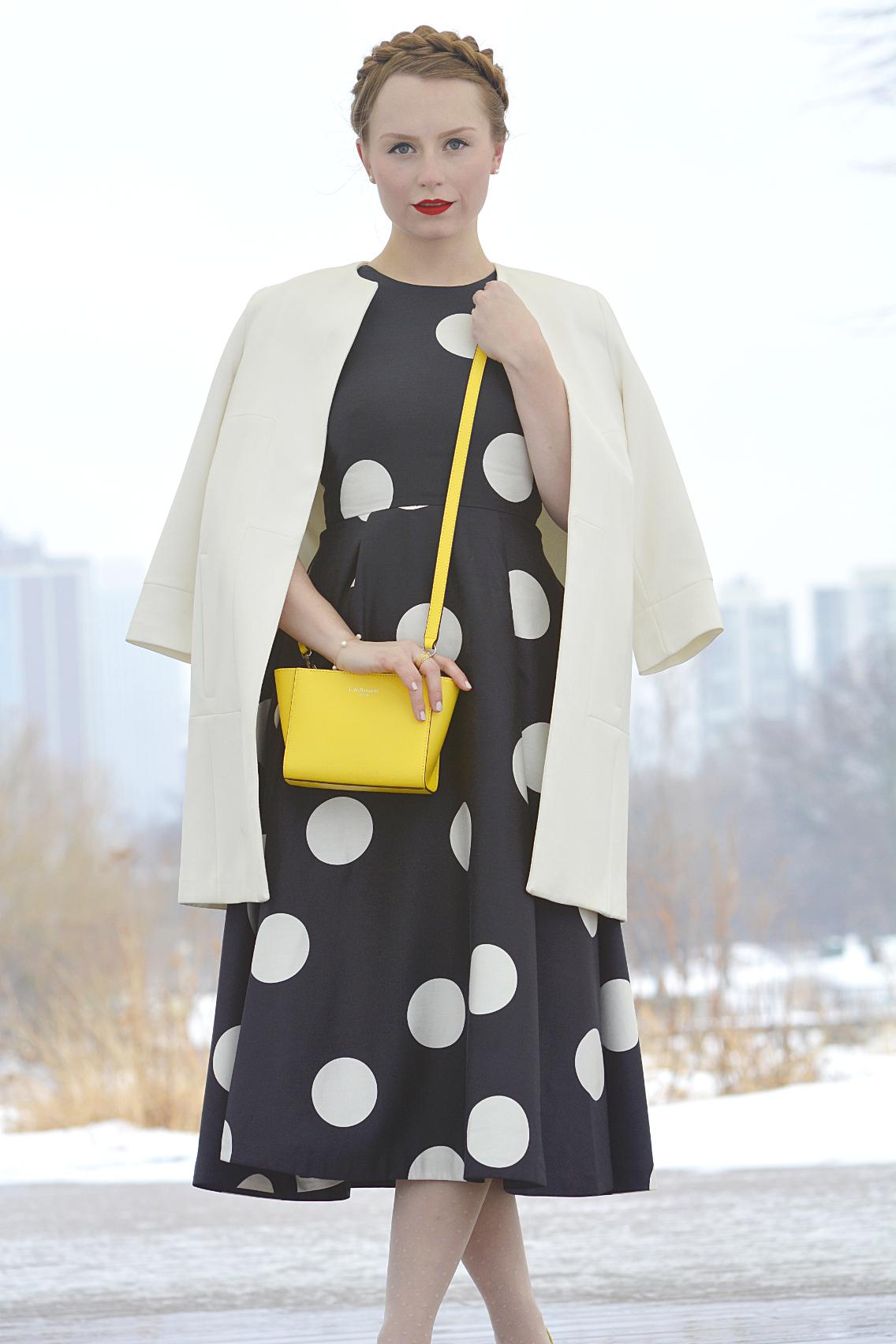 LK Bennett Polka Dot Midi Dress Spring 2015 29
