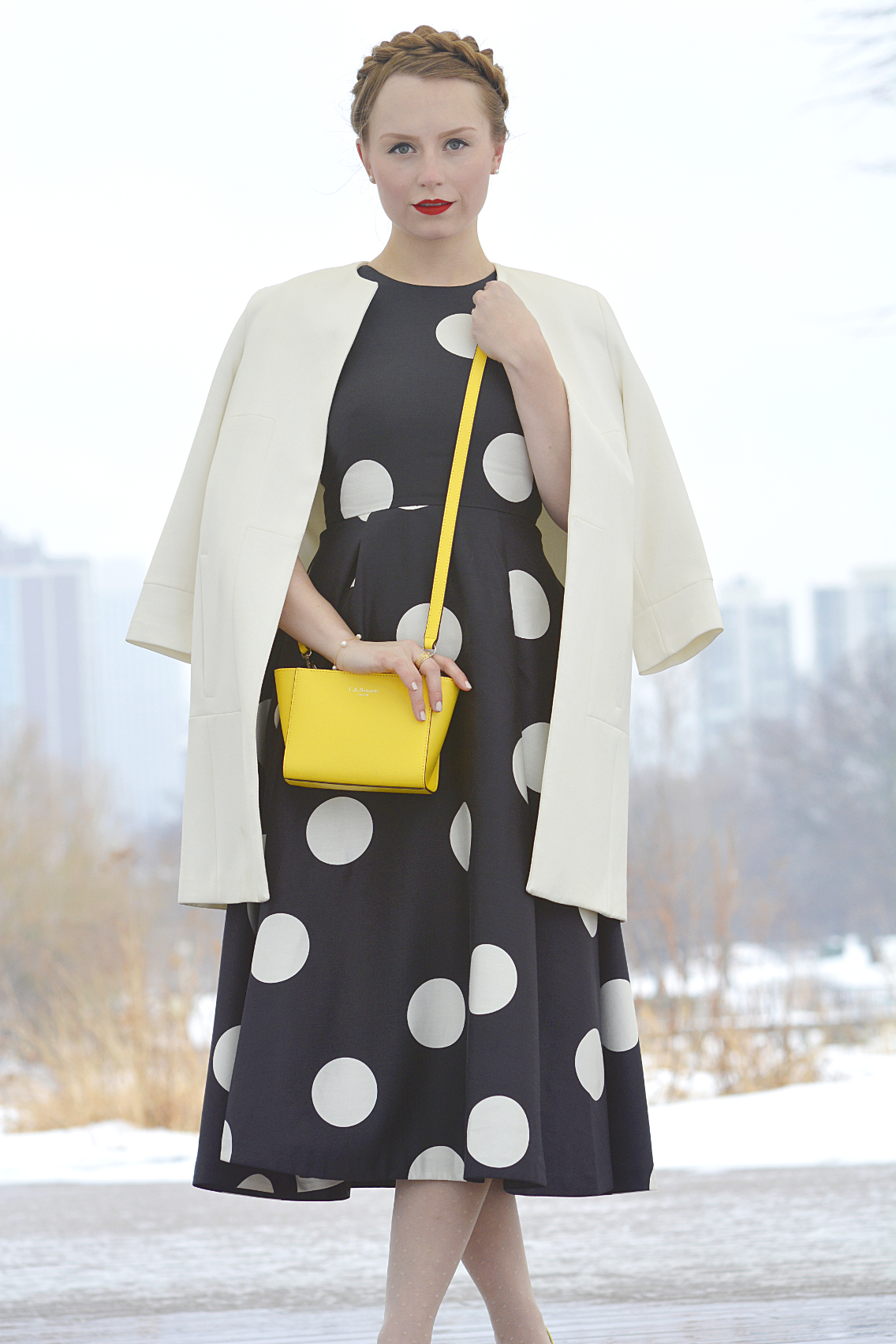 LK Bennett Polka Dot Midi Dress Spring 2015 29