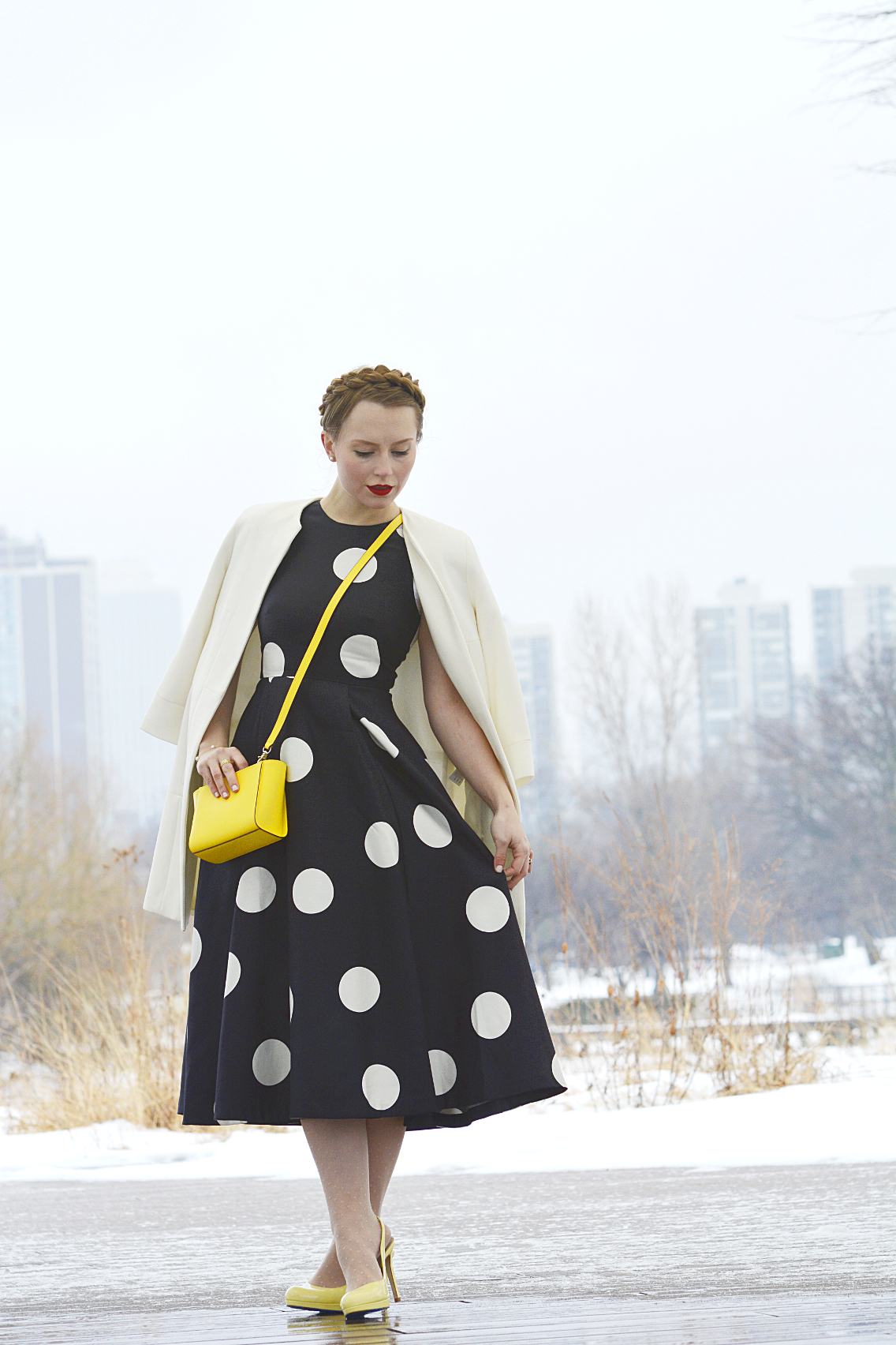 LK Bennett Polka Dot Midi Dress Spring 2015 22