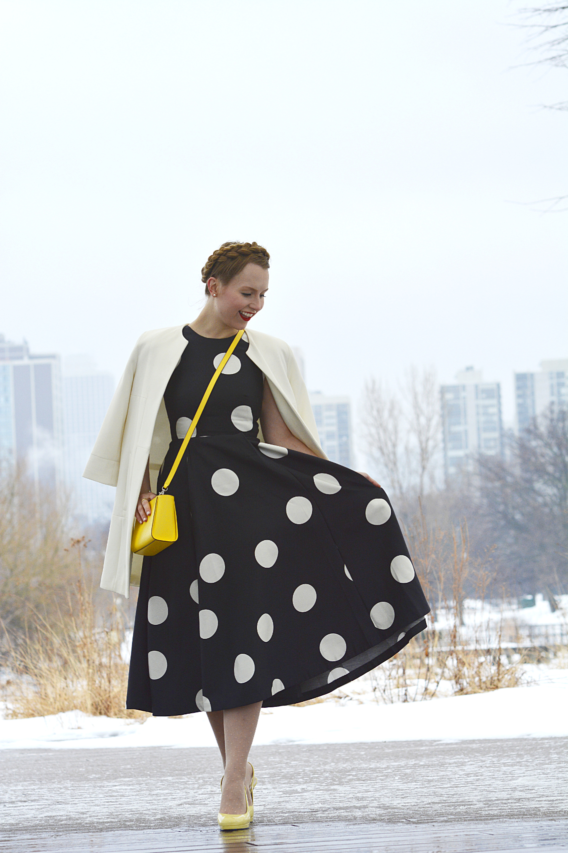 LK Bennett Polka Dot Midi Dress Spring 2015 52