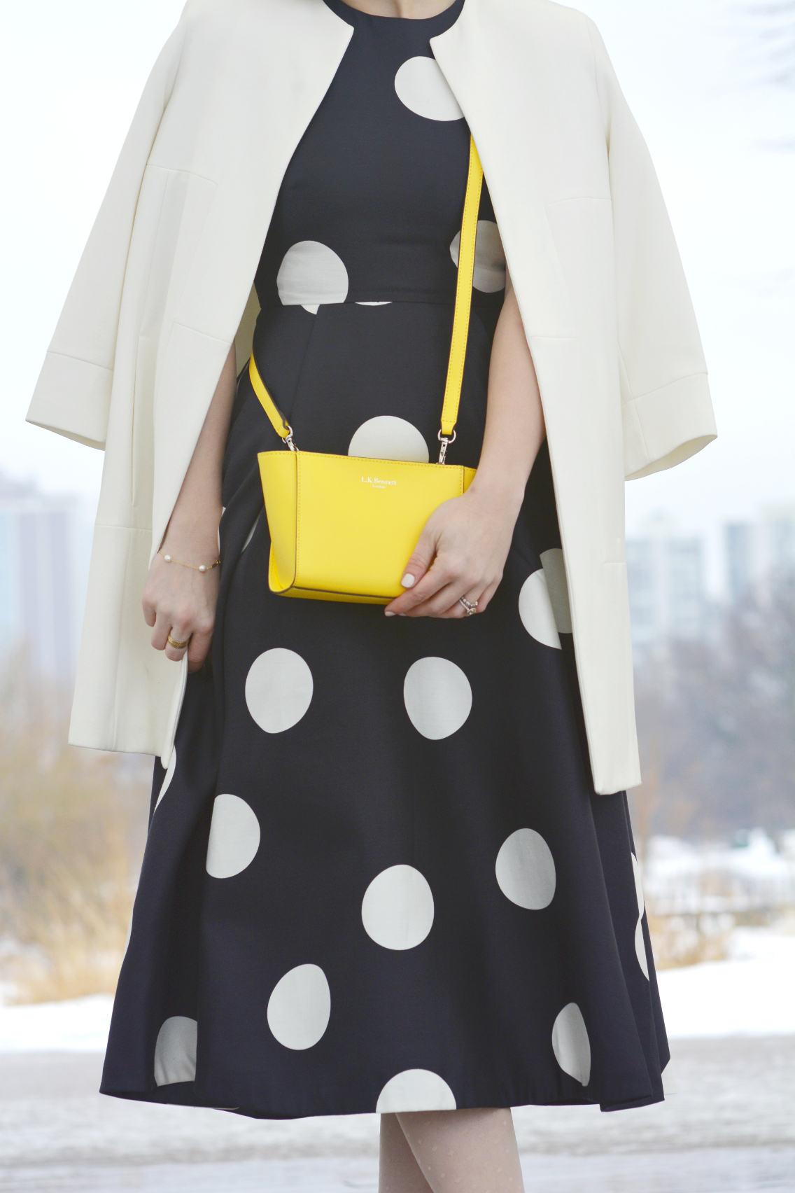 LK Bennett Polka Dot Midi Dress Spring 2015 14