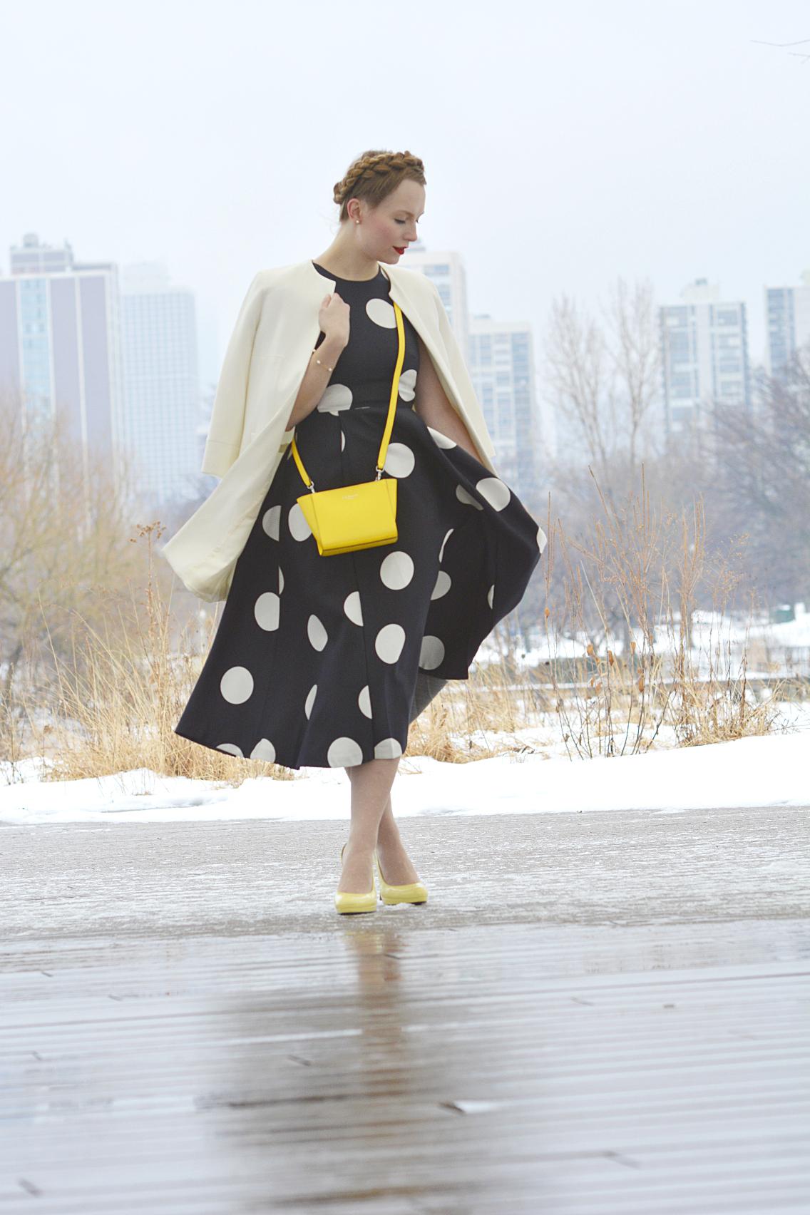 LK Bennett Polka Dot Midi Dress Spring 2015 12