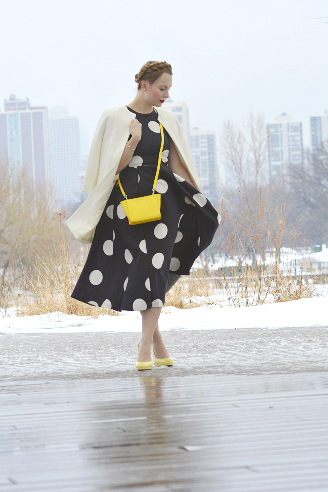 LK Bennett Polka Dot Midi Dress Spring 2015 12