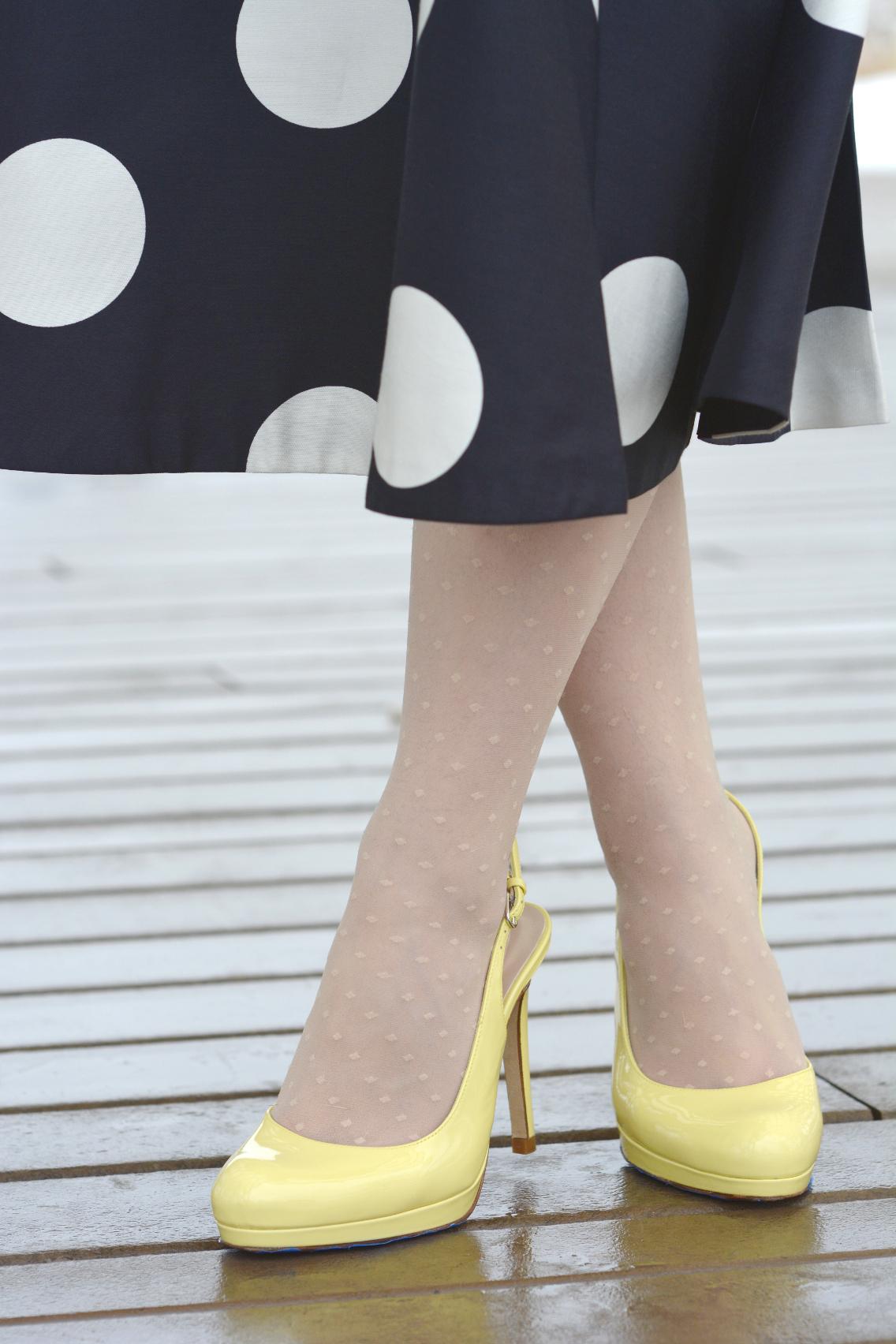 LK Bennett Polka Dot Midi Dress Spring 2015 8