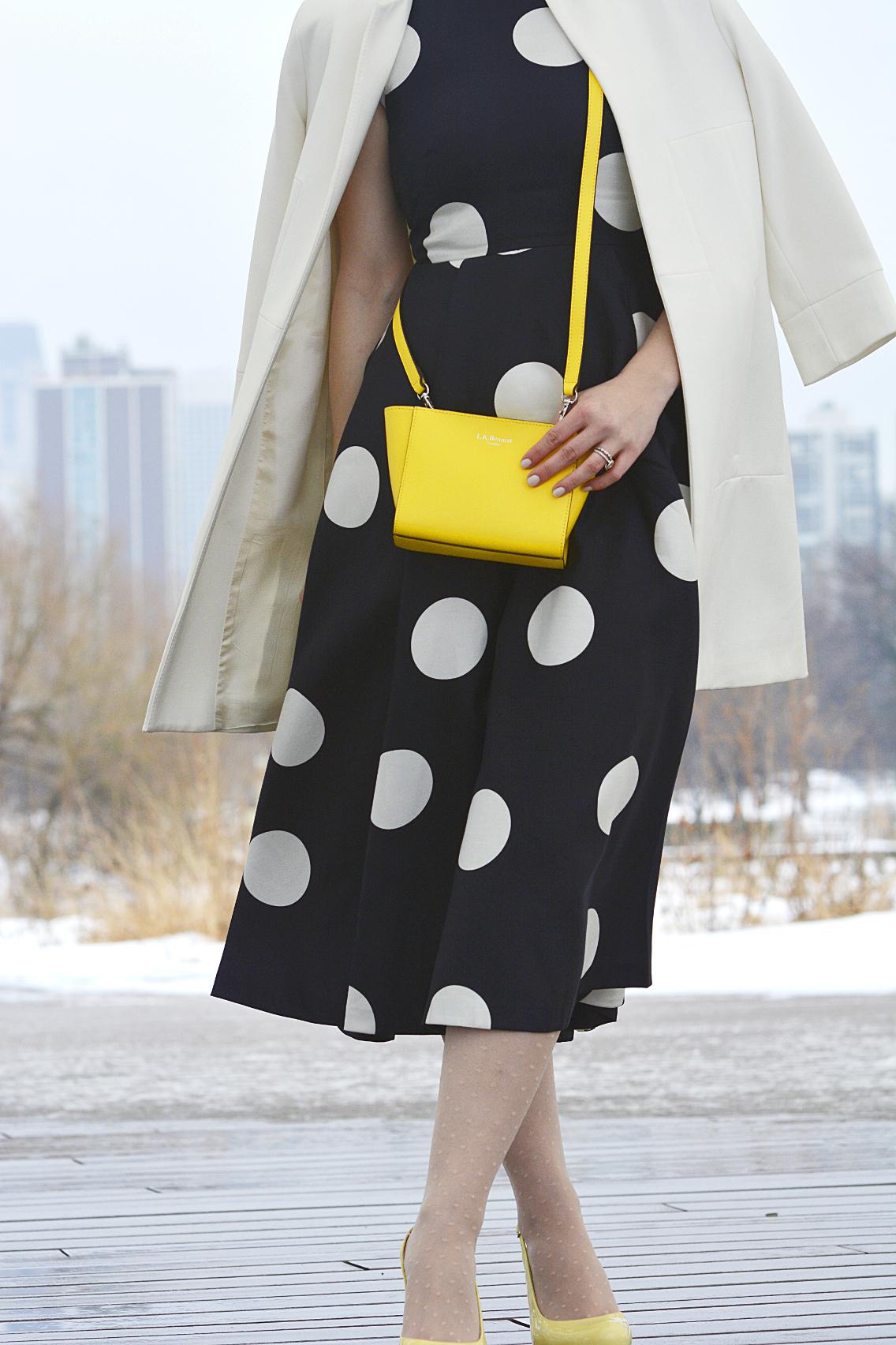 LK Bennett Polka Dot Midi Dress Spring 2015 55