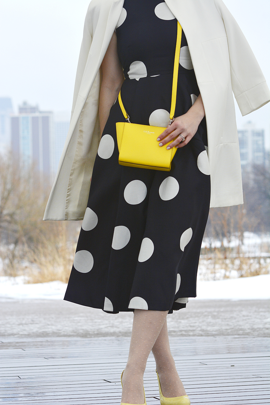 LK Bennett Polka Dot Midi Dress Spring 2015 55